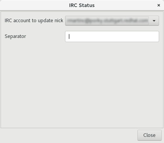 ircstatus preferences window